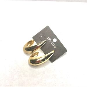 "NWT Chico's Gold Tone 2"" Length Earrings"